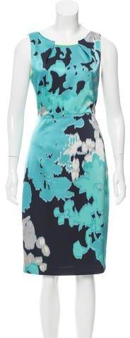 Tahari Abstract Printed Sleeveless Dress