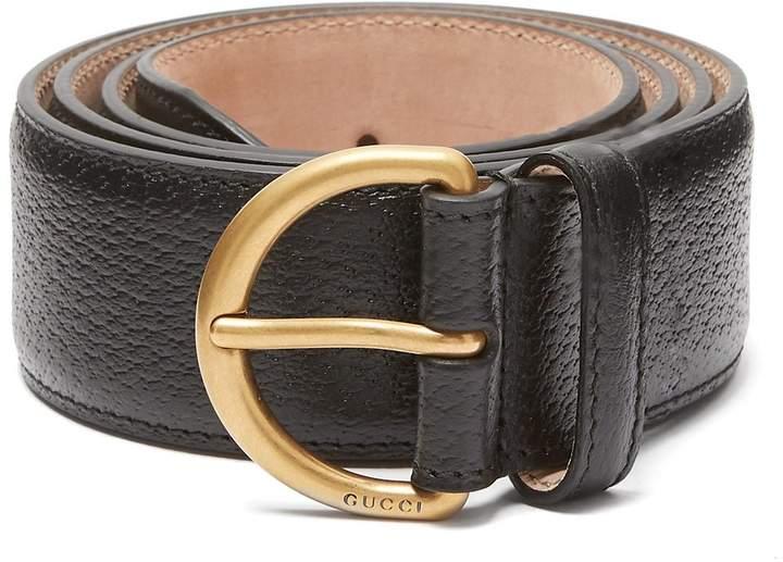 Gucci Bee motif leather belt