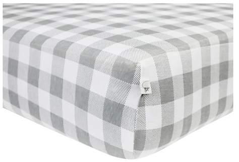 Baby® Organic Fitted Crib Sheet - Buffalo Check
