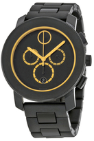 Movado Bold Chronograph Black Dial Black TR90 Mens Watch, 43.5mm