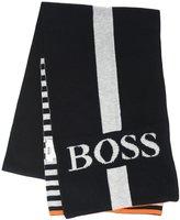 HUGO BOSS City Essential Boss Scarf (Kid) - Gris/Noir - 3