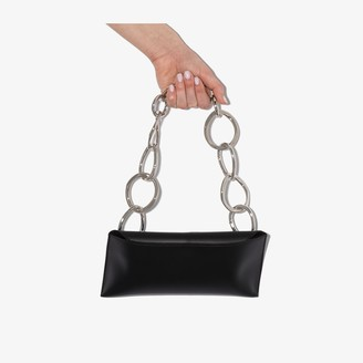 Venczel Black Serial Bovine Leather Shoulder Bag