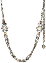 Lanvin WOMEN'S CRYSTAL-EMBELLISHED FIGARO-CHAIN NECKLACE
