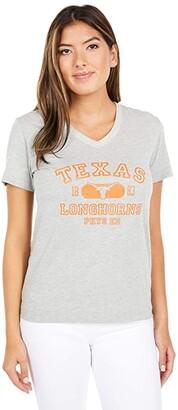 Champion College Texas Longhorns University 2.0 V-Neck Tee (Oxford Grey) Women's Clothing
