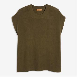 Joe Fresh Women+ Sleeveless Sweater, Olive (Size 3X)