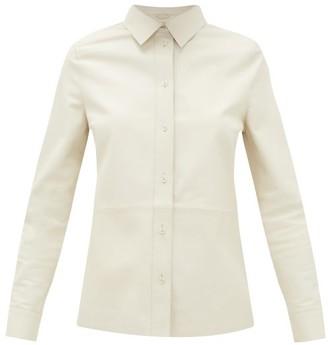 Stand Studio Gabi Leather Shirt - Womens - Ivory
