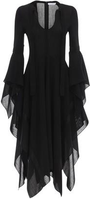J.W.Anderson Gazar Asymmetric Midi Dress