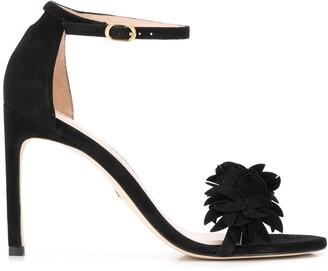 Stuart Weitzman Nudistsong Flower sandals