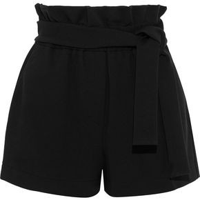 3.1 Phillip Lim Belted Gathered Stretch-jersey Shorts