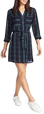 1 STATE Plaid Shirt Dress