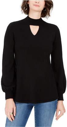 Style&Co. Style & Co Mock-Neck Keyhole Sweater