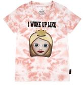 Little Eleven Paris Emoji I Woke Up Motif T-Shirt