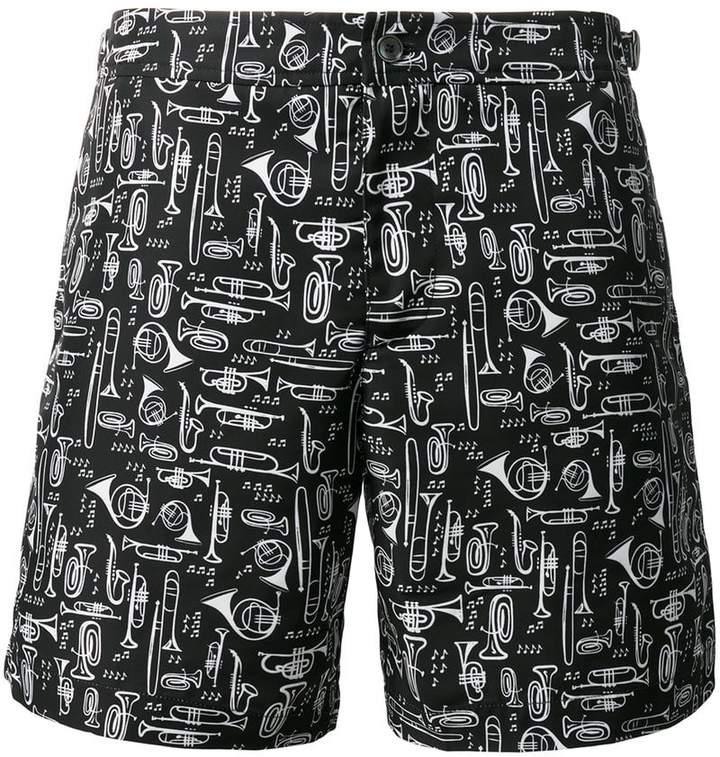 Dolce & Gabbana musical instrument print swim shorts