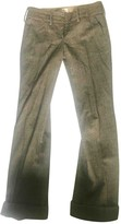 Armani Collezioni Grey Wool Trousers for Women
