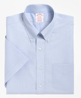 Brooks Brothers Traditional Relaxed-Fit Dress Shirt, Non-Iron Short-Sleeve