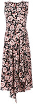 Kenzo floral leaf midi dress - women - Silk/Polyester - 36