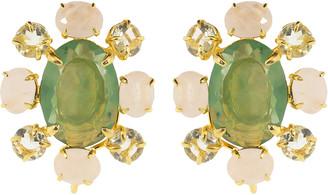 Bounkit Fluorite Cluster Earrings
