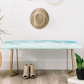 Wonder Forest Faux Leather bench East Urban Home