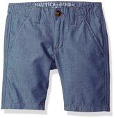 Nautica Little Boys' Bermuda Slim Fit Shorts