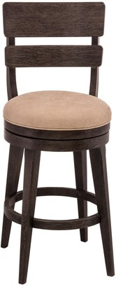 Hillsdale LeClair Black and Cream Upholstered Bar Stool