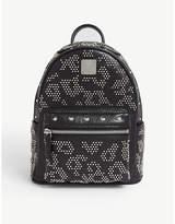 Mcm Stark Leo studded leather backpack