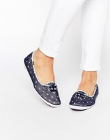 Keds Teacup Blue Chambray Dot Sneakers