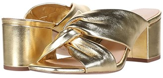 J.Crew Twisted Carmen Sandal (Metallic Gold Leather) Women's Sandals