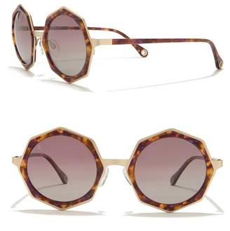 Raen Luci Polarized 49mm Geo Round Sunglasses