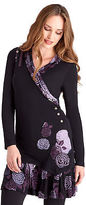 Joe Browns Women's Long Sleeved Jersey Tunic Top with contrast pattern detail