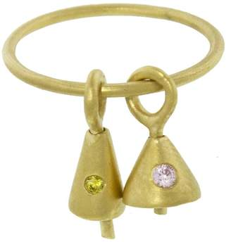 Ileana Makri EYE M by Pink and Yellow Zircon Bell Ring