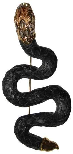Alexis Bittar 18K Gold Plated Alexandria Snake Pin Brooch