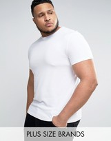 Asos PLUS Muscle T-Shirt With Crew Neck In White