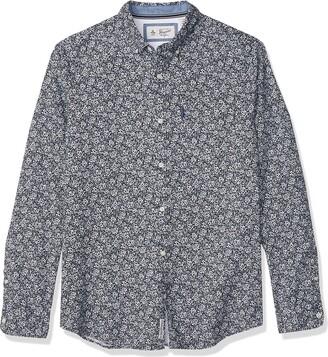 Original Penguin Men's WVN Long Sleeveditsy Floral Shirt