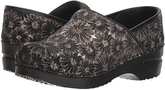 Sanita Professional Daisy Metallic (Black) Women's Clog Shoes