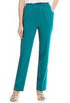 Allison Daley Petites Pull-On Feather Touch Pants