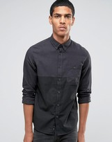 Celio Long Sleeve Regular Fit Shirt with Cut and Sew Panel