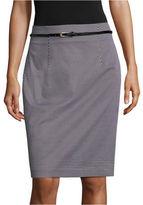 WORTHINGTON Worthington Belted Pencil Skirt