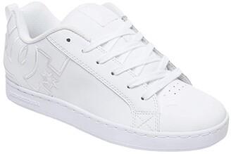 DC Court Graffik W (White/White/White) Women's Skate Shoes