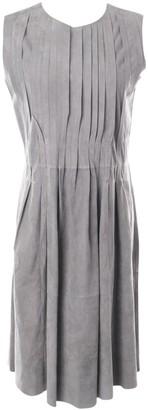 Iris von Arnim Grey Leather Dress for Women