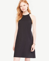 Ann Taylor Petite Poplin Halter Shift Dress