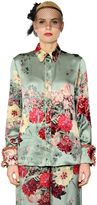 Antonio Marras Floral Printed Silk Twill Shirt