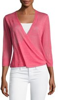 Nic+Zoe 4-Way 3/4-Sleeve Cardigan, Pink, Petite
