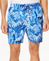 Tommy Bahama Men's Naples Oasis Blooms Tropical-Print Swim Trunks