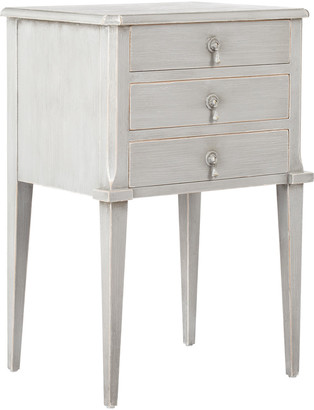 OKA Aquila Bedside Chest of Drawers, Small - Distressed Grey