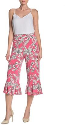 ECI Floral Ruffle Cuff Pants
