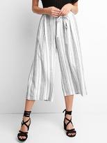 Gap Linen stripe tie-belt culottes
