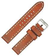 Dakota Men's 17136 Vintage Genuine Leather, Contrast Stitched with Thick Padding Watch Band (20mm, 22mm)