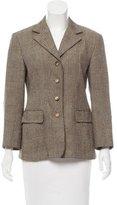 Salvatore Ferragamo Wool & Silk-Blend Blazer