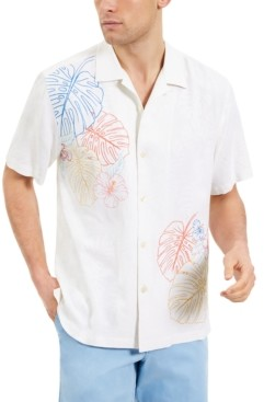 Tommy Bahama Men's Sketched Tropics Classic-Fit Floral Embroidered Silk Camp Shirt