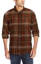 G.H. Bass Men's Long Sleeve Fireside Plaid Flannel Shirt